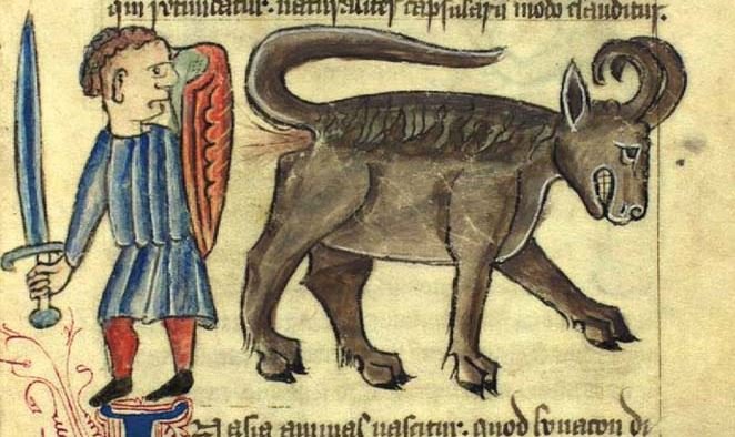 Medieval Monsters: Bonnacon – Long Range Poo Artillery