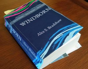 A dog-eared copy of Windborn that I read through to edit.